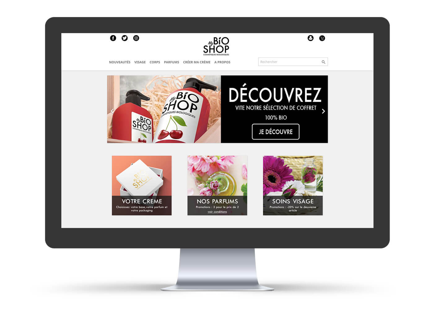 programmation site e-commerce my bio shop