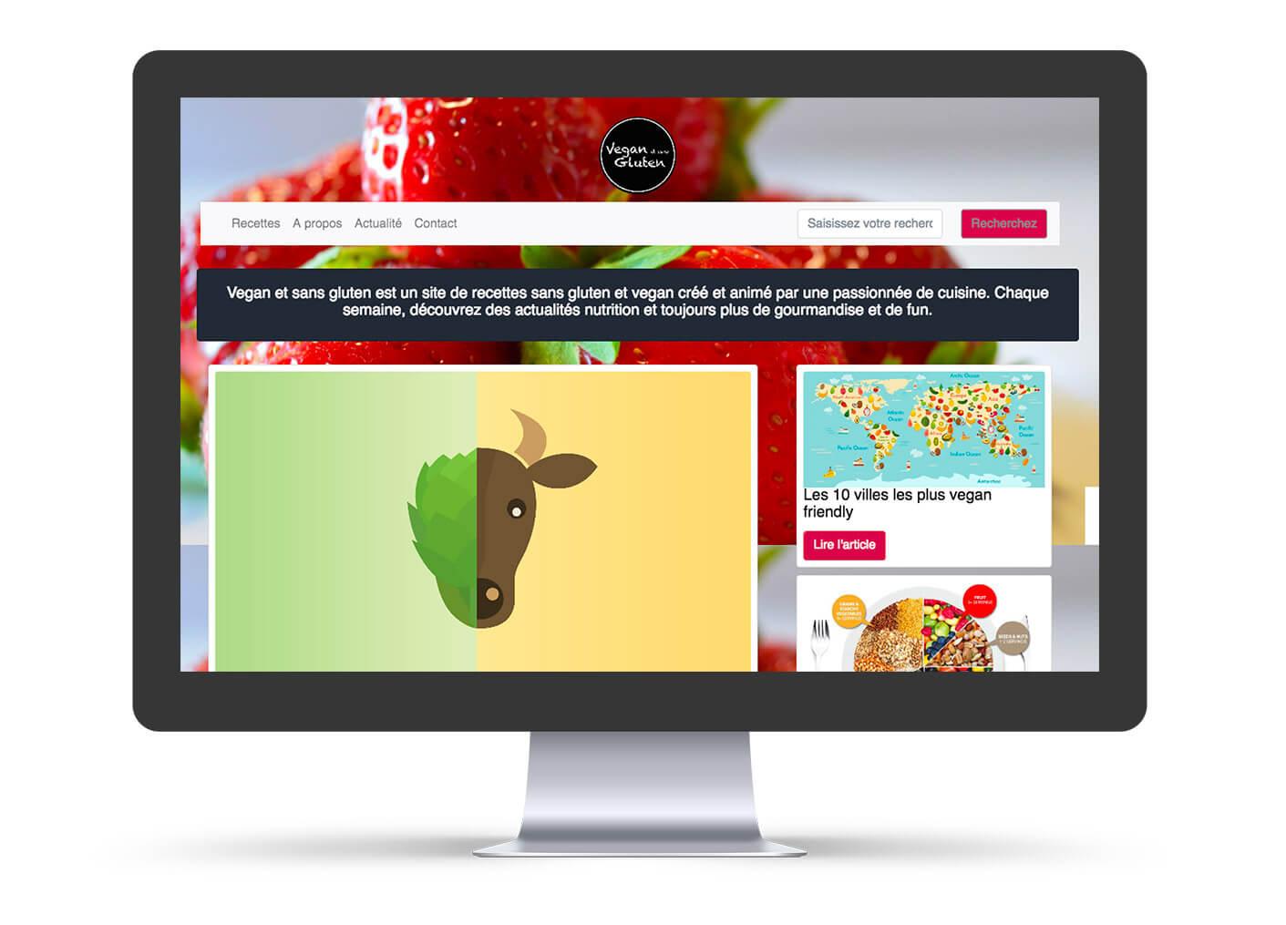 création site web vegan et sans gluten avec bootstrap