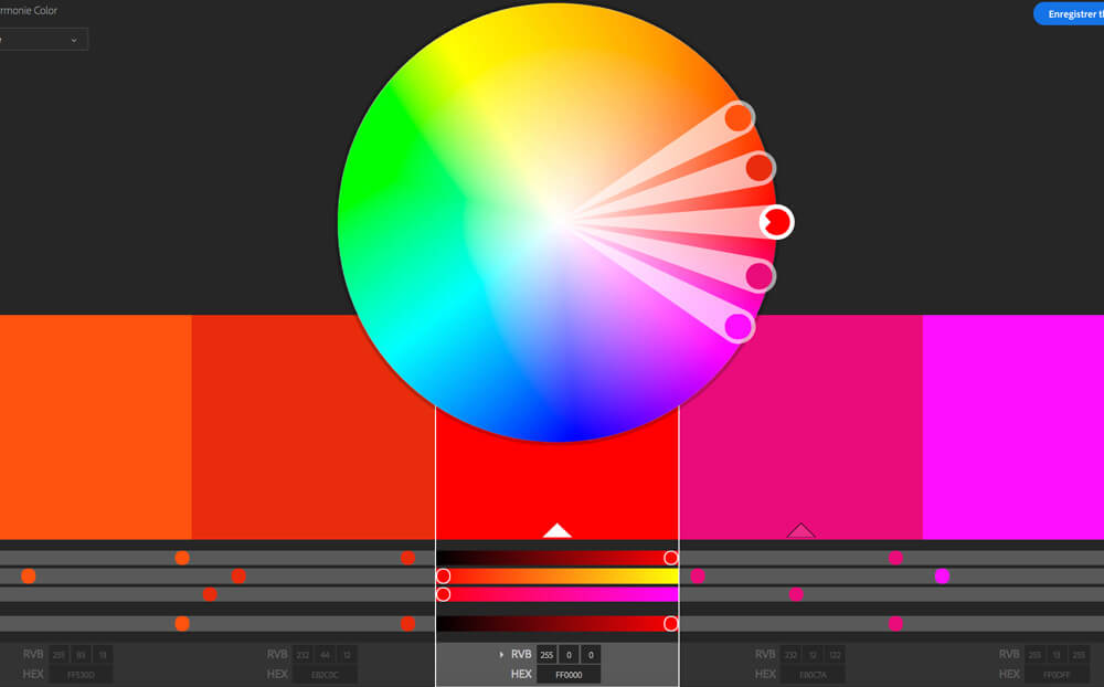 création d'une palette de couleurs pour infographie
